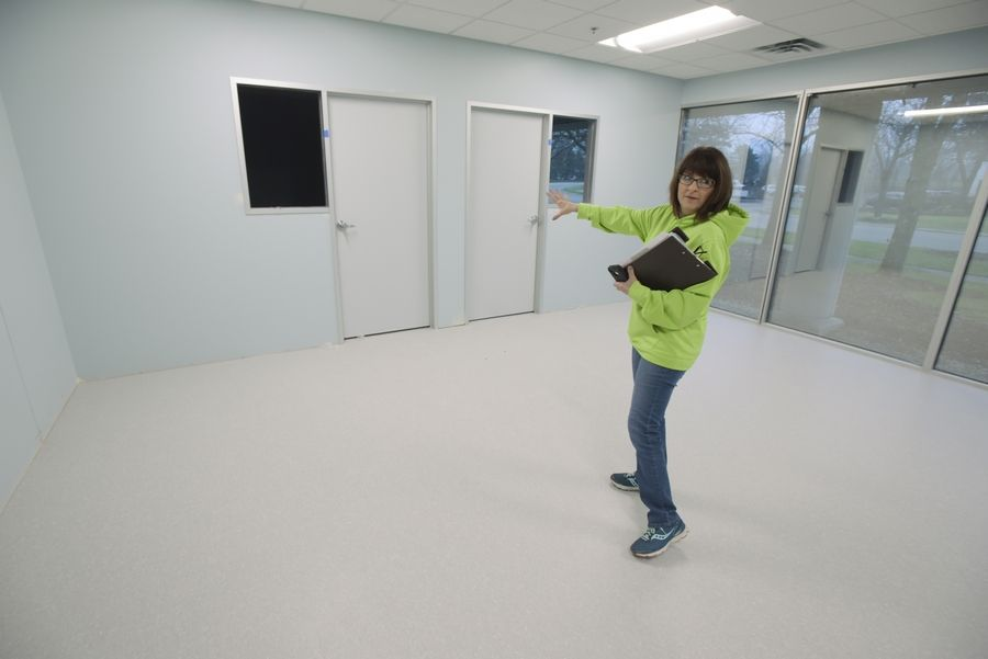 Deanna Tyrpak, executive director and co-founder of Soaring Eagle Academy, shows off one of the classrooms at the school's new location in Lombard. The school, which serves students with autism, is scheduled to open Jan. 5.