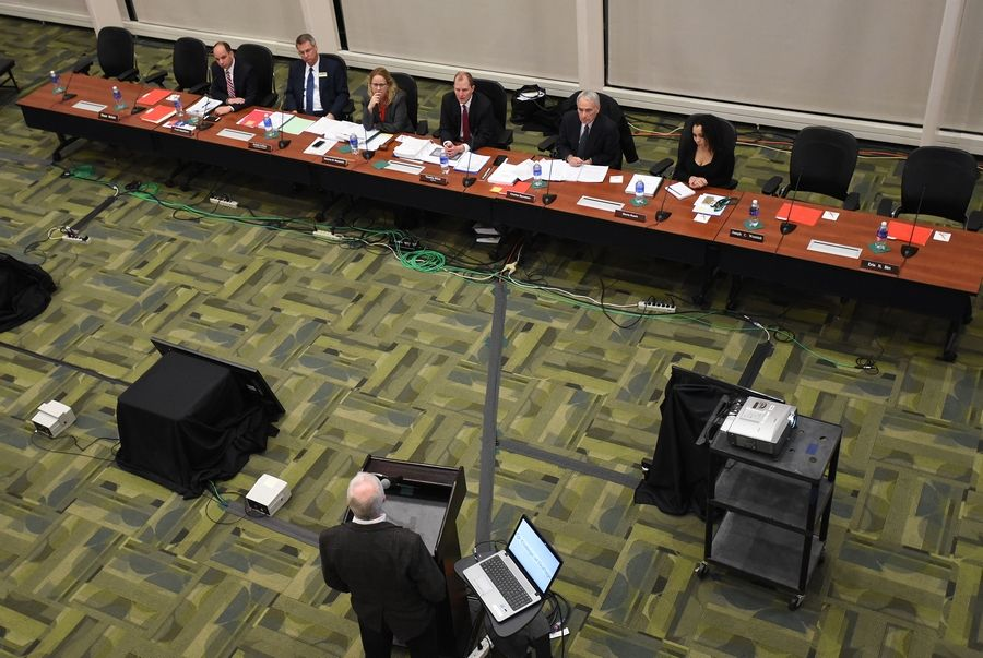 Deanne Mazzochi was at the center for Thursday's College of DuPage board meeting in Glen Ellyn.