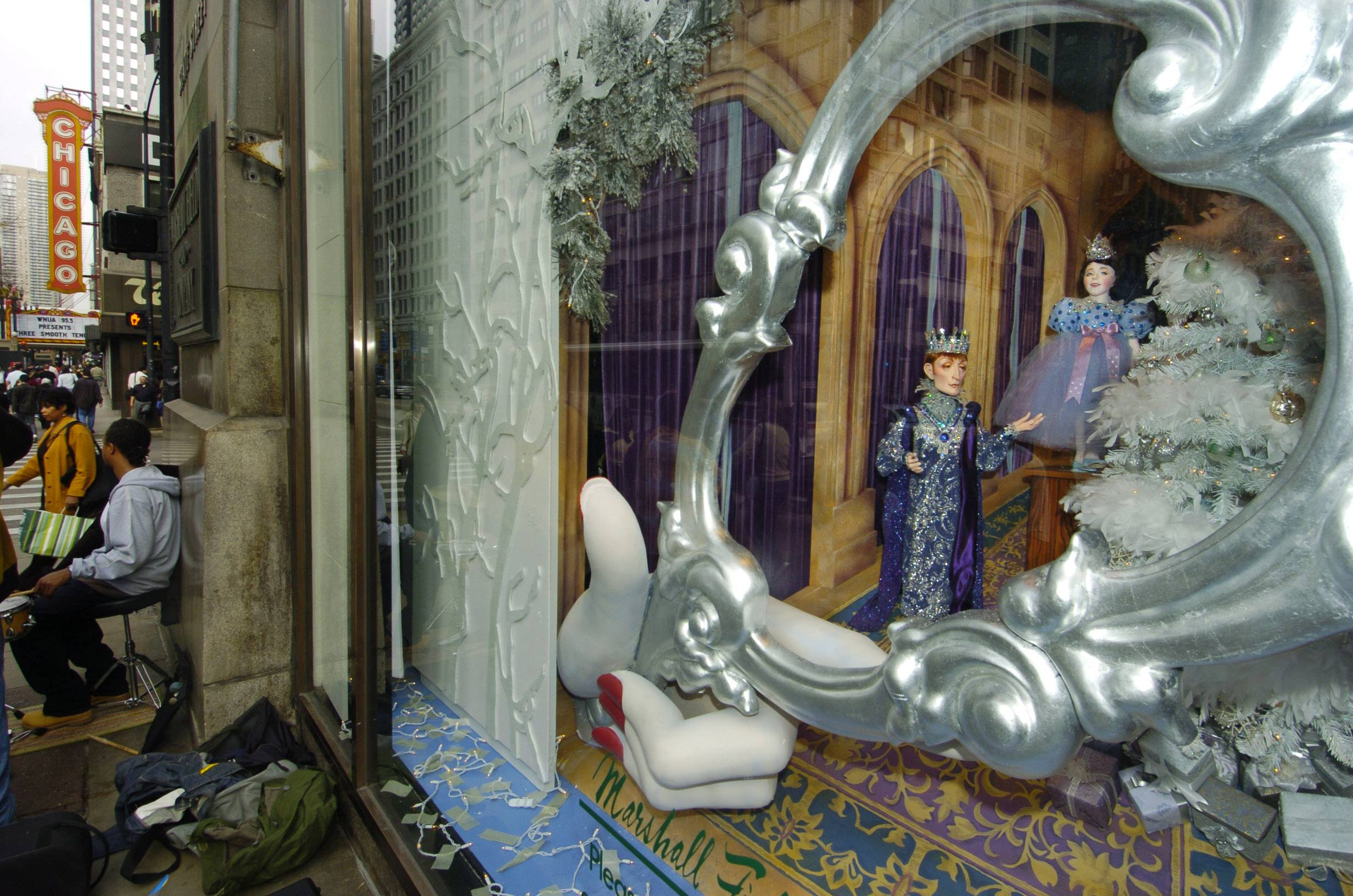 Themed Christmas windows were a draw to the former Marshall Field's store on State Street in Chicago.