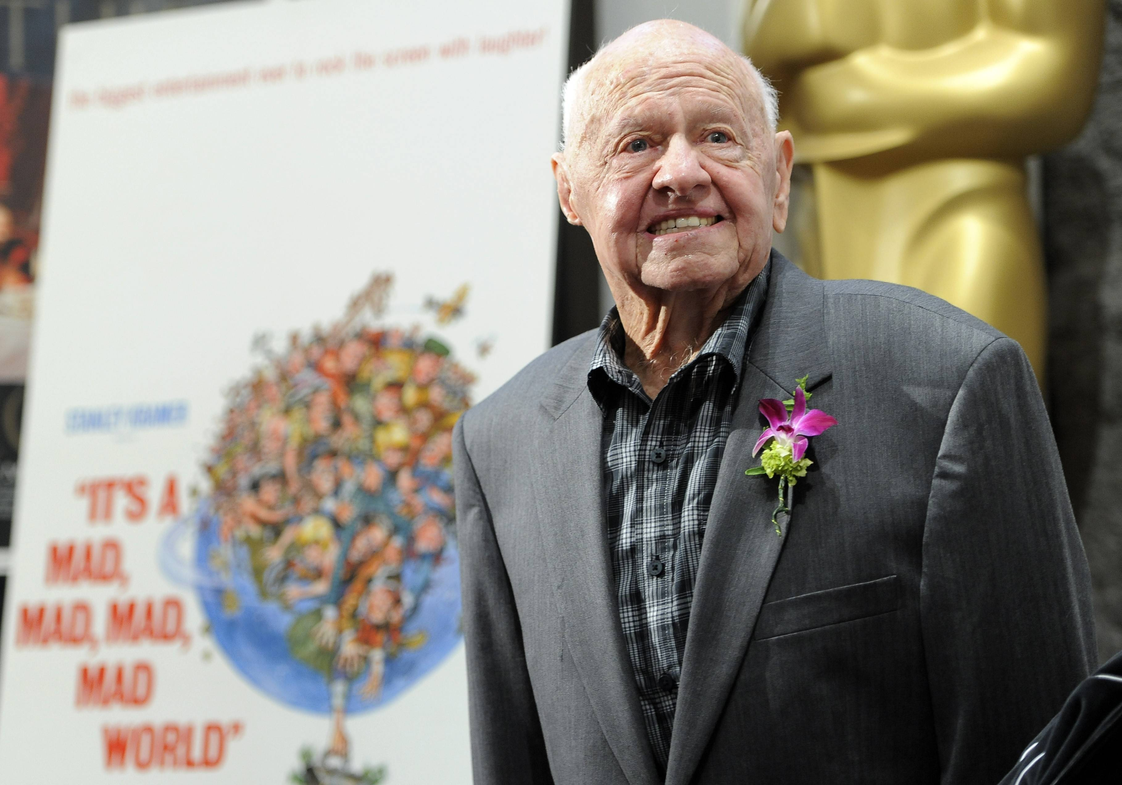 Mickey Rooney appears at the kickoff to an Academy of Motion Picture Arts and Sciences film festival at the Samuel Goldwyn Theater in Beverly Hills, California.