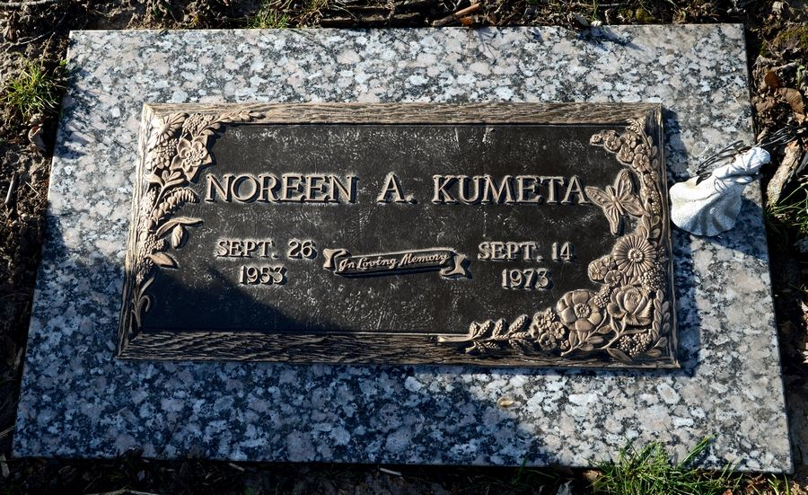 The grave of Noreen A. Kumeta Rudd at Dundee Township Cemetery East.
