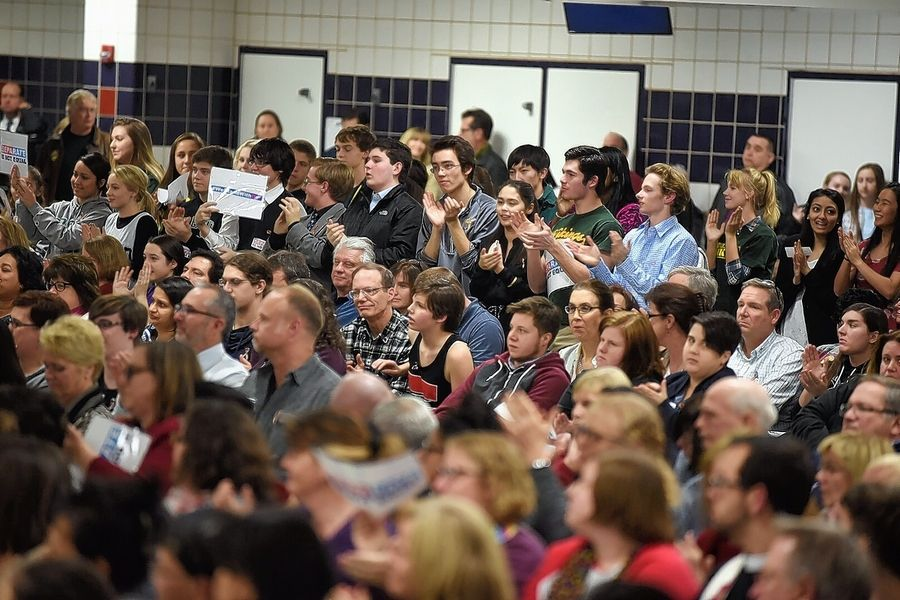 Students and parents packed Conant High School on Dec. 7 for a District 211 board discussion on whether to scuttle a settlement to the long-running dispute over a transgender student's access to locker rooms.