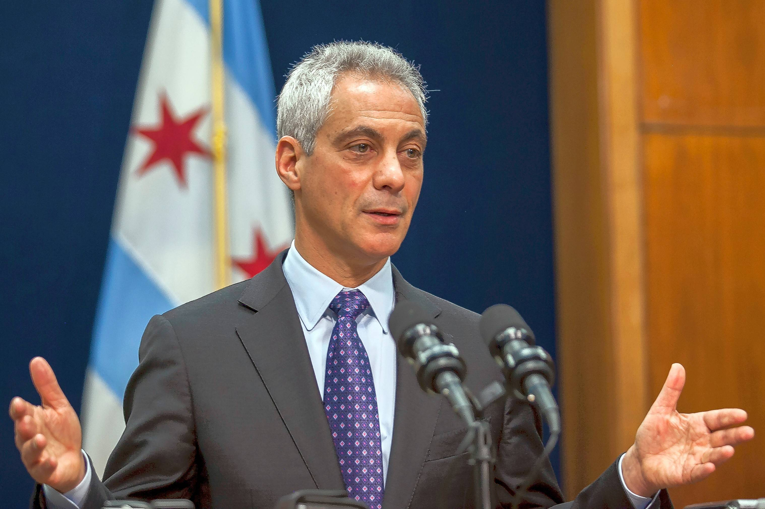 Chicago Mayor Rahm Emanuel speaks at a news conference in Chicago, Tuesday, Dec. 1, 2015, where he announced the firing Chicago Police Superintendent Garry McCarthy and discussed the creation of a newly created task force on police accountability.