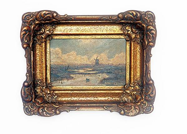 This Miniature Seascape Is Valued At About 350 Partly Because Of Its Period Frame In