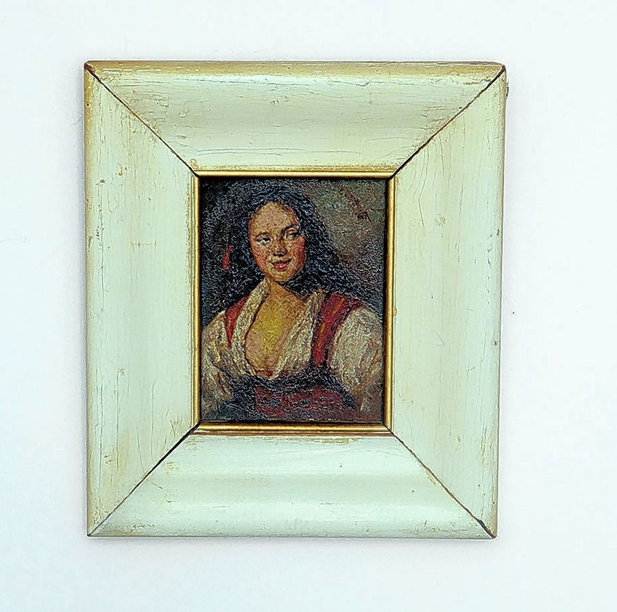 Miniature paintings are increasingly popular and their value is based both on the quality of the art, and the quality and condition of the frame. This painting would sell for about $150.