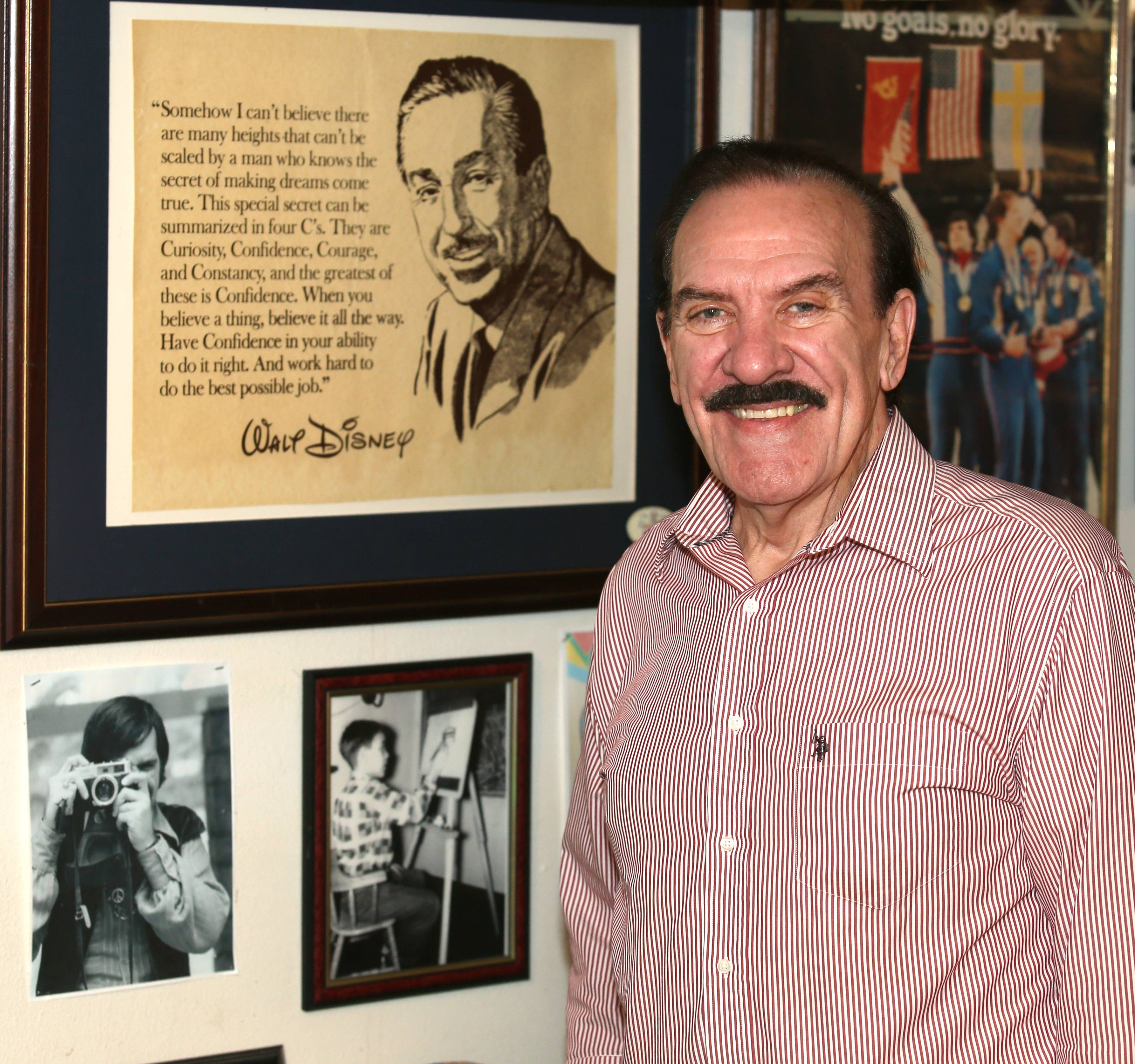 "RJ Ogren keeps one of his favorite Walt Disney quotes on the wall outside of his art studio in his Naperville basement, where he and his wife Suzanne wrote their new book, ""Together in the Dream: The Unique Careers of a Husband and Wife in the Early Decades of Walt Disney World."""
