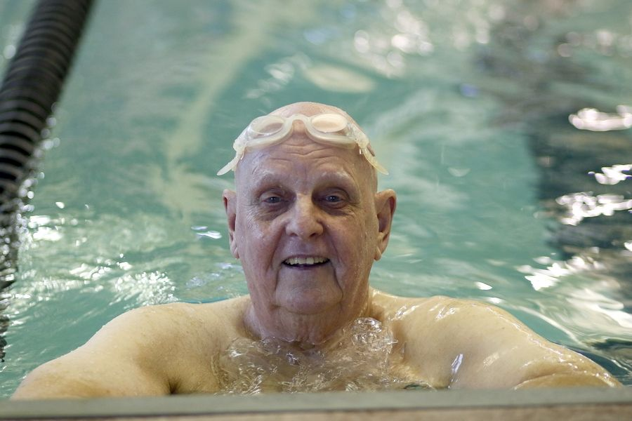 Ed Wojdyla, 78, of Hoffman Estates is back to swimming five days a week at the Centre in Elgin after a new immunotherapy drug beat back his Stage 4 cancer into remission.