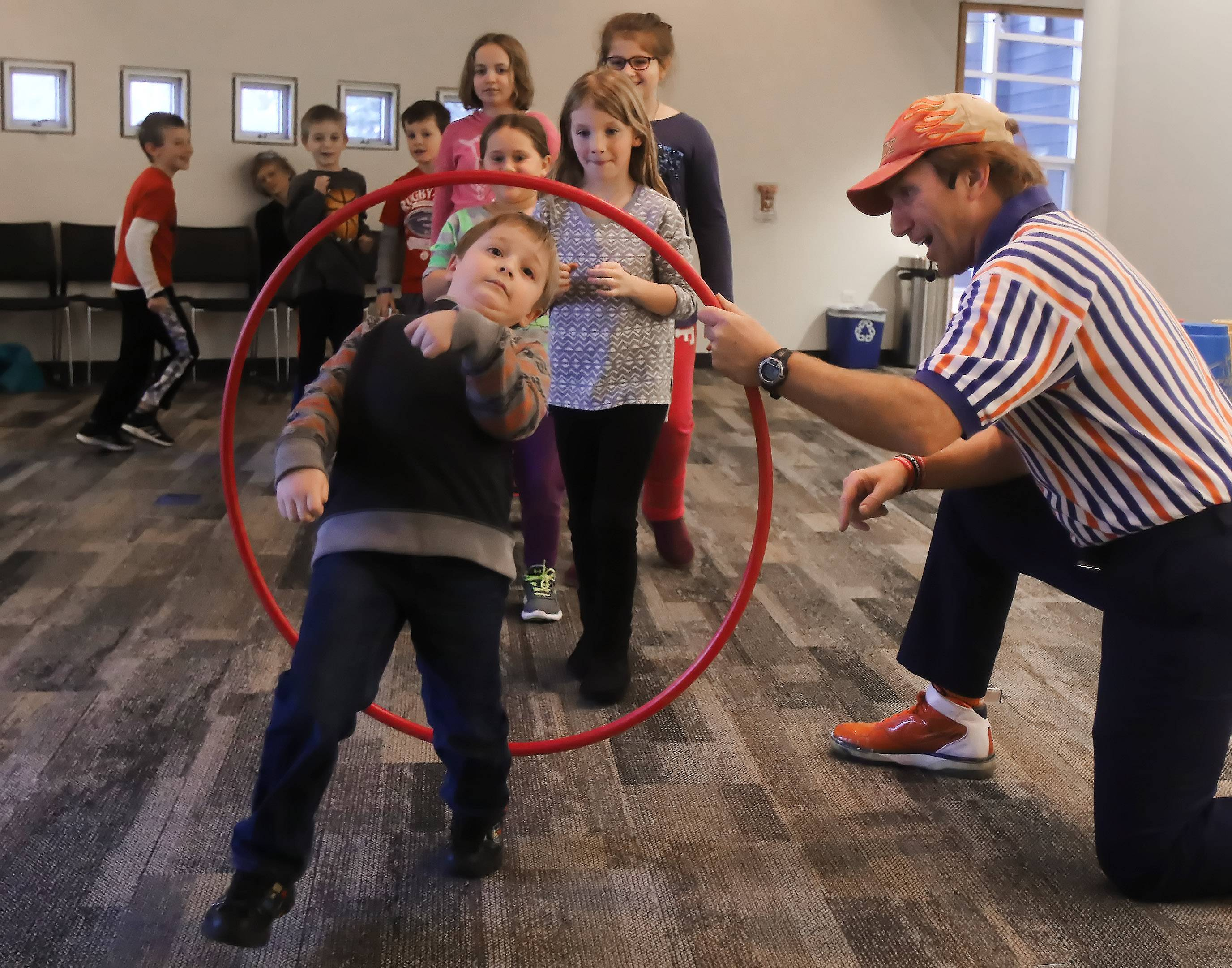 Families compete in wacky game show at Wauconda library