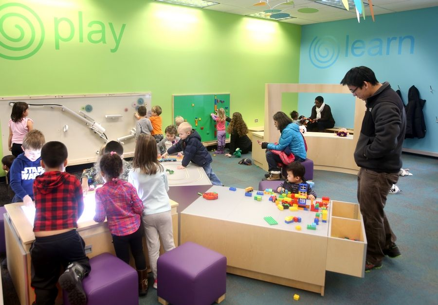 "AT DAILYHERALD.COM/MORE: ""I think families are very happy with the new play space,"" Youth Department Director Renee Grassi says. ""Kids are loving it."""