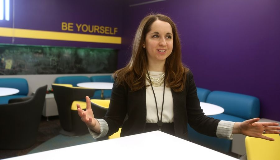 """This is really a space just for them,"" Youth Department Director Renee Grassi says of a new room for middle schoolers."
