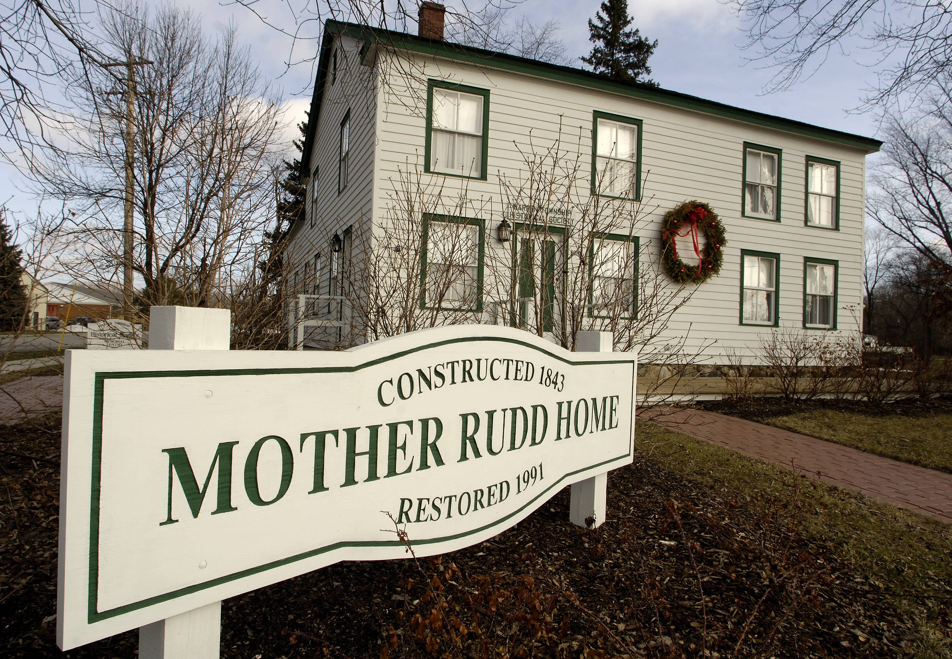 The Mother Rudd Home in Gurnee sheltered slaves escaping to freedom via the Underground Railroad.