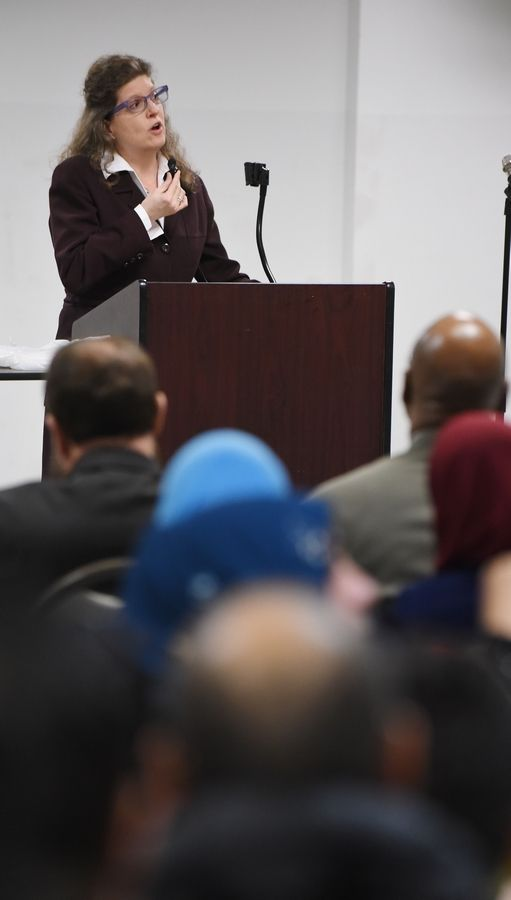 """This is what it's all about, unity and coming together as a community,"" Villa Park Village President Deborah Bullwinkel said during a rally Friday at the Islamic Foundation in Villa Park"