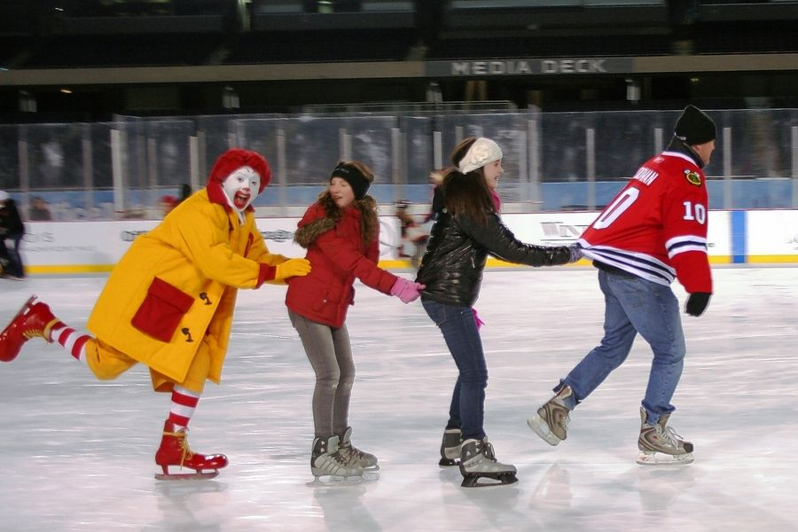 """Skate With the Greats"" at MB Financial Park at Rosemont on Jan. 16."