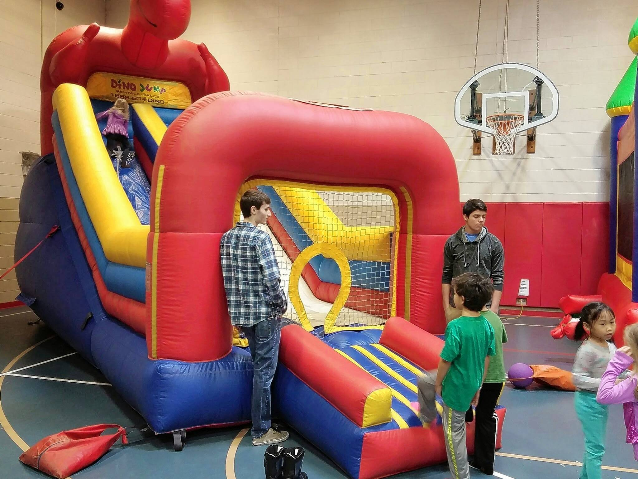 If outdoor activities on tap at Addison Park District's Winterfest prove too chilly, kids will find inflatable fun indoors.