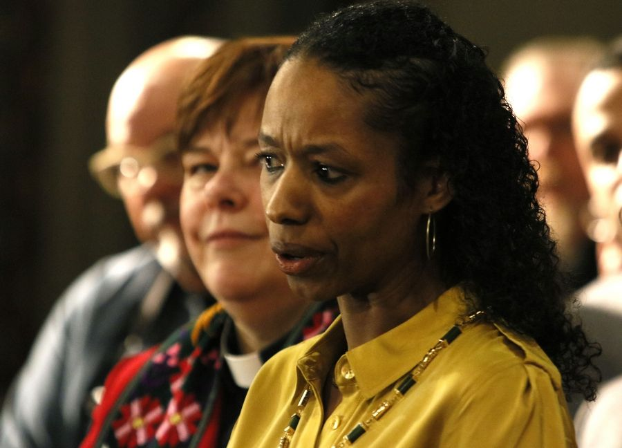 "Wheaton College Professor Larycia Hawkins, speaking Wednesday in Chicago, said she's ""flabbergasted"" by the school's efforts to fire her for saying Christians and Muslims worship the same God."