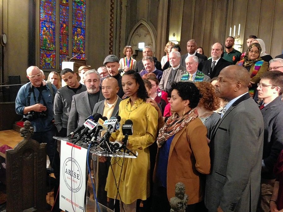 """I have never wavered from my commitment to the Christian doctrines elucidated in this statement of faith,"" Wheaton College Professor Larycia Hawkins said during a Wednesday news conference in Chicago."