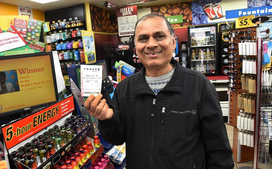 Jay Patel of Elk Grove Village bought a Powerball ticket from the Shell station on Higgins and Arlington Heights Road in Elk Grove Village.