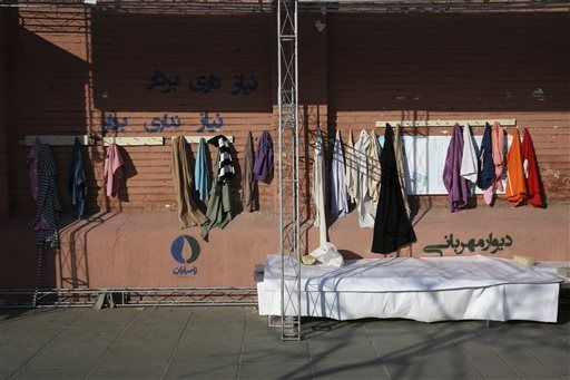 Iran's needy get winter clothes from 'Walls of Kindness'
