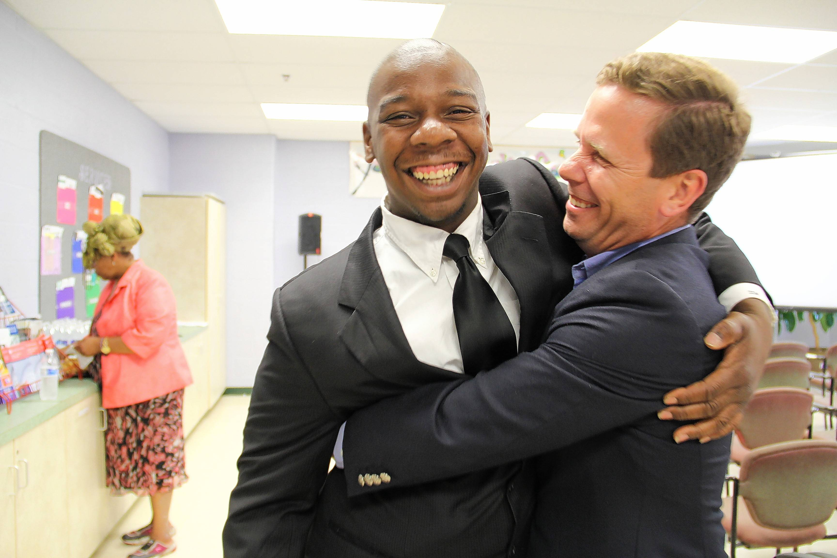 U.S. Rep. Bob Dold has invited Lavelle Brown, left, to the State of the Union address.