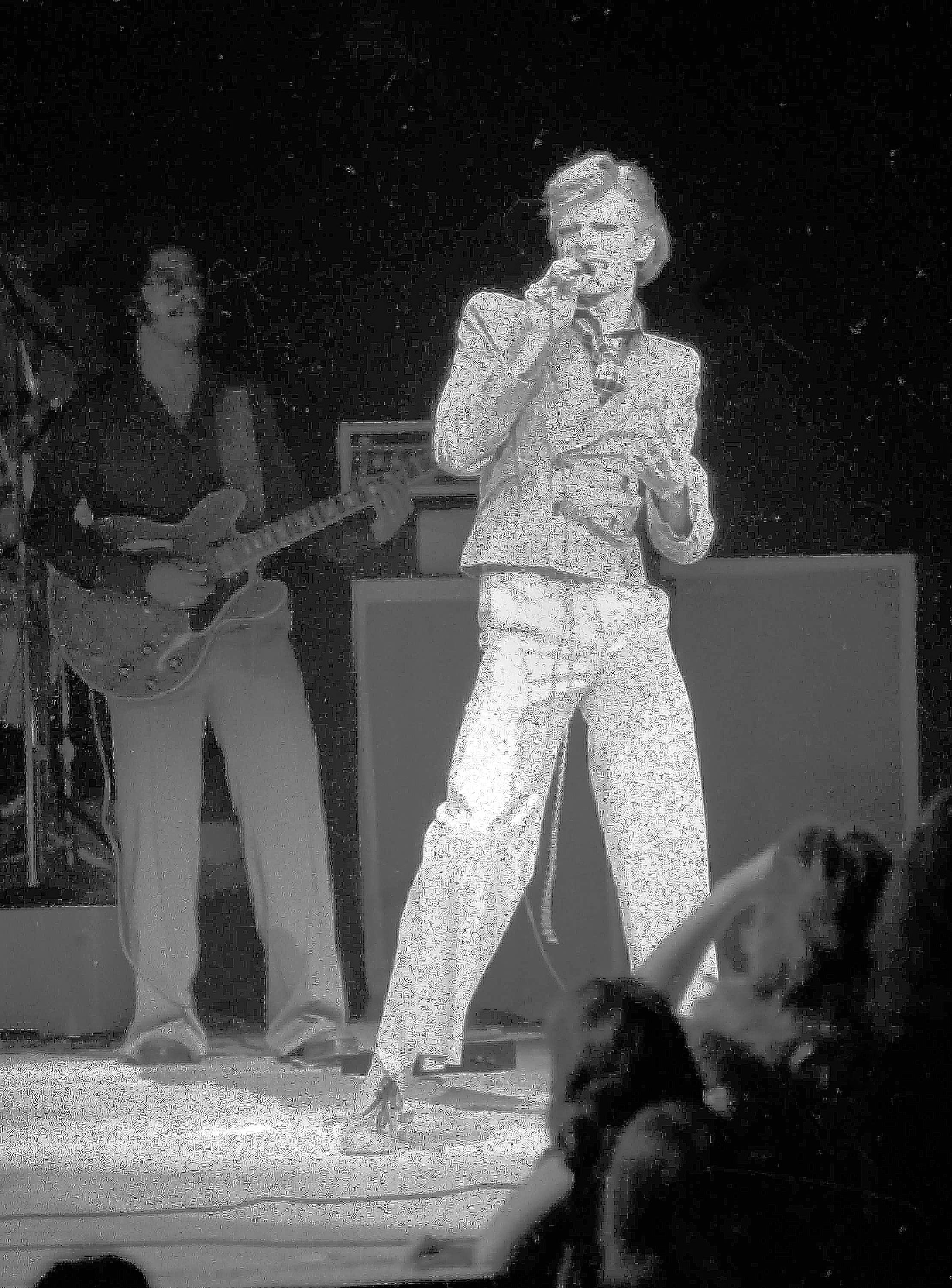 David Bowie performs at New York's Radio City Music Hall in 1974.