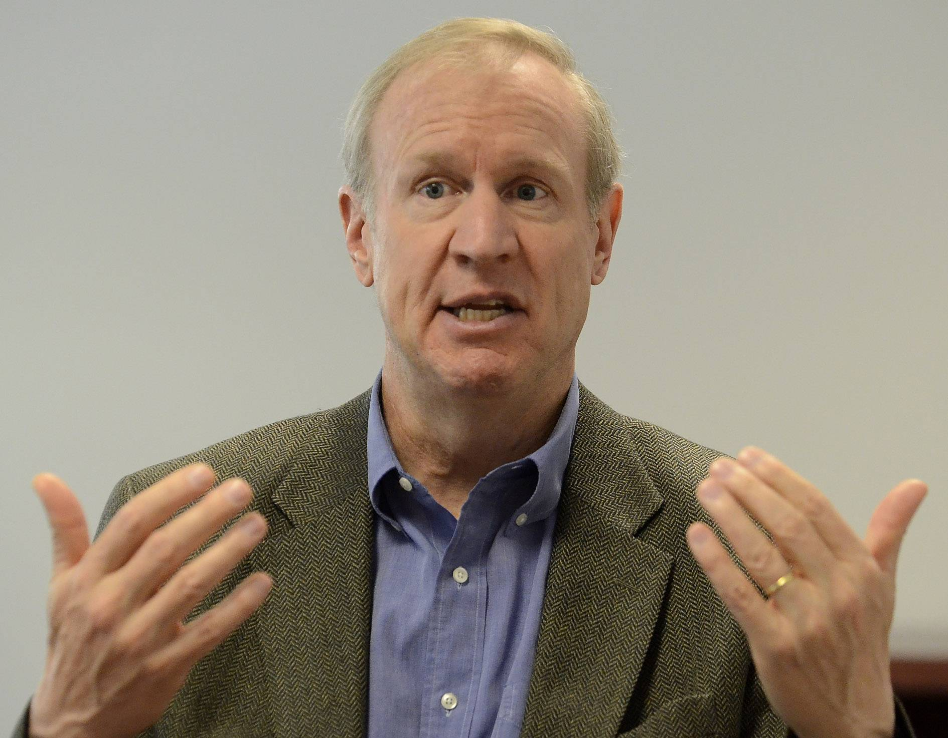 Gov. Bruce Rauner backed a new pension proposal.