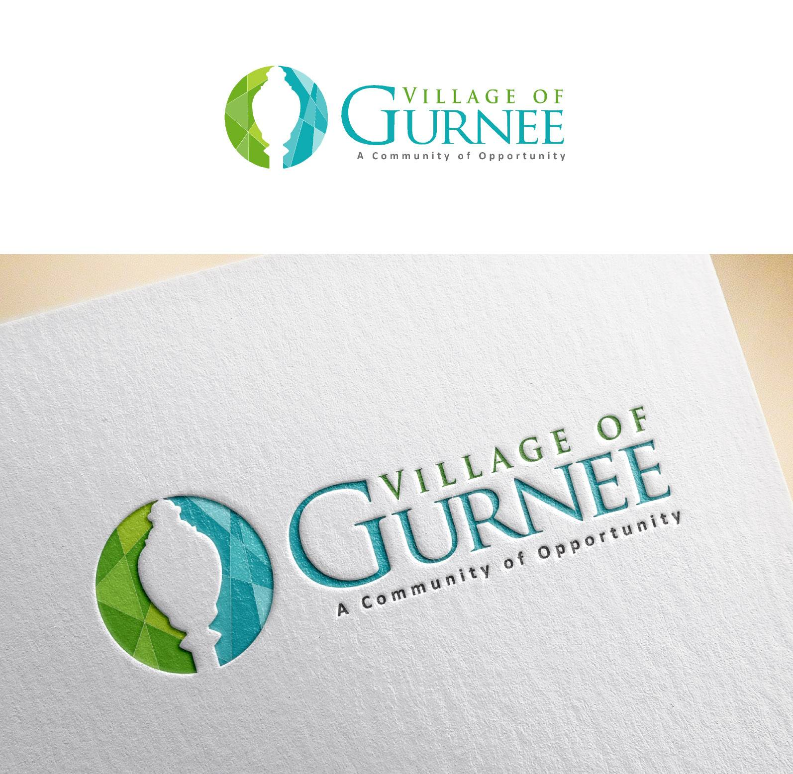 Here is one of the crowdsourcing designs for the village of Gurnee's new logo that was not selected.