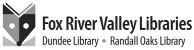 This logo came from a company hired in the traditional way by the Fox River Valley Public Library District.