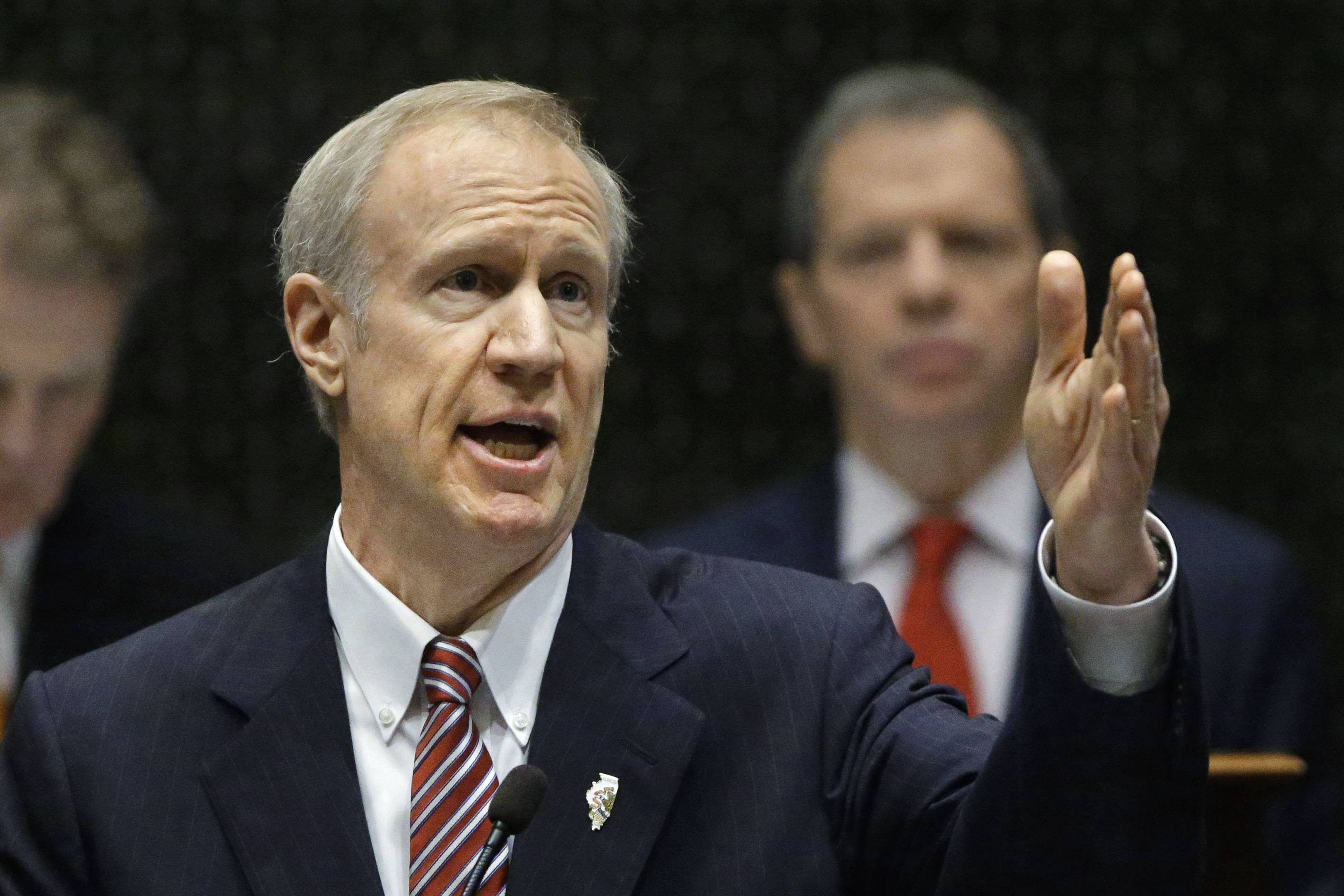 Gov. Bruce Rauner delivered his first State of the State address Feb. 4 last year at the Capitol in Springfield. This year he will aim to find common ground with Democrats -- a tall order.