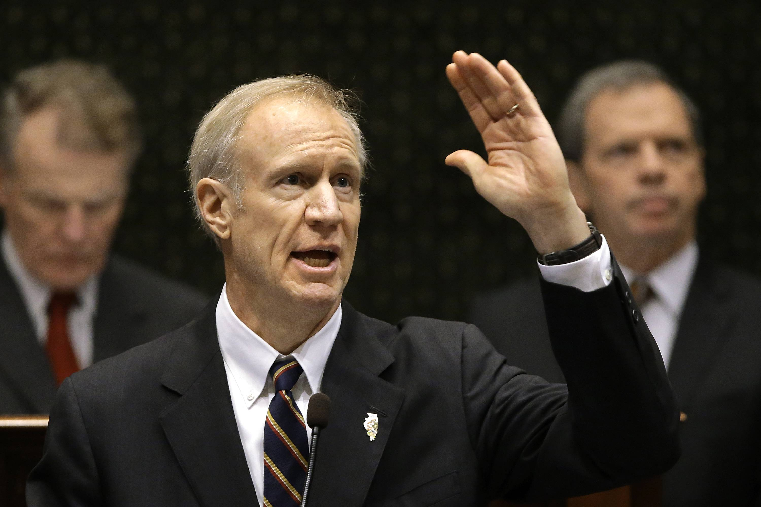 Illinois Gov. Bruce Rauner delivers his state of the State address Wednesday to a joint session of the General Assembly.