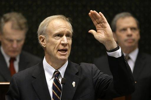 Illinois Gov. Bruce Rauner delivers his State of the State address to a joint session of the General Assembly in the House chambers at the Illinois State Capitol Wednesday, Jan. 27, 2016, in Springfield, Ill.
