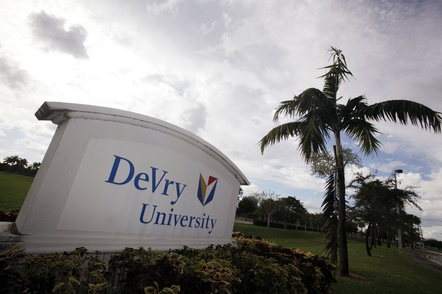 The government is suing the operators of the Downers Grove-based DeVry University, alleging the for-profit college misled consumers about students' job and earnings prospects.