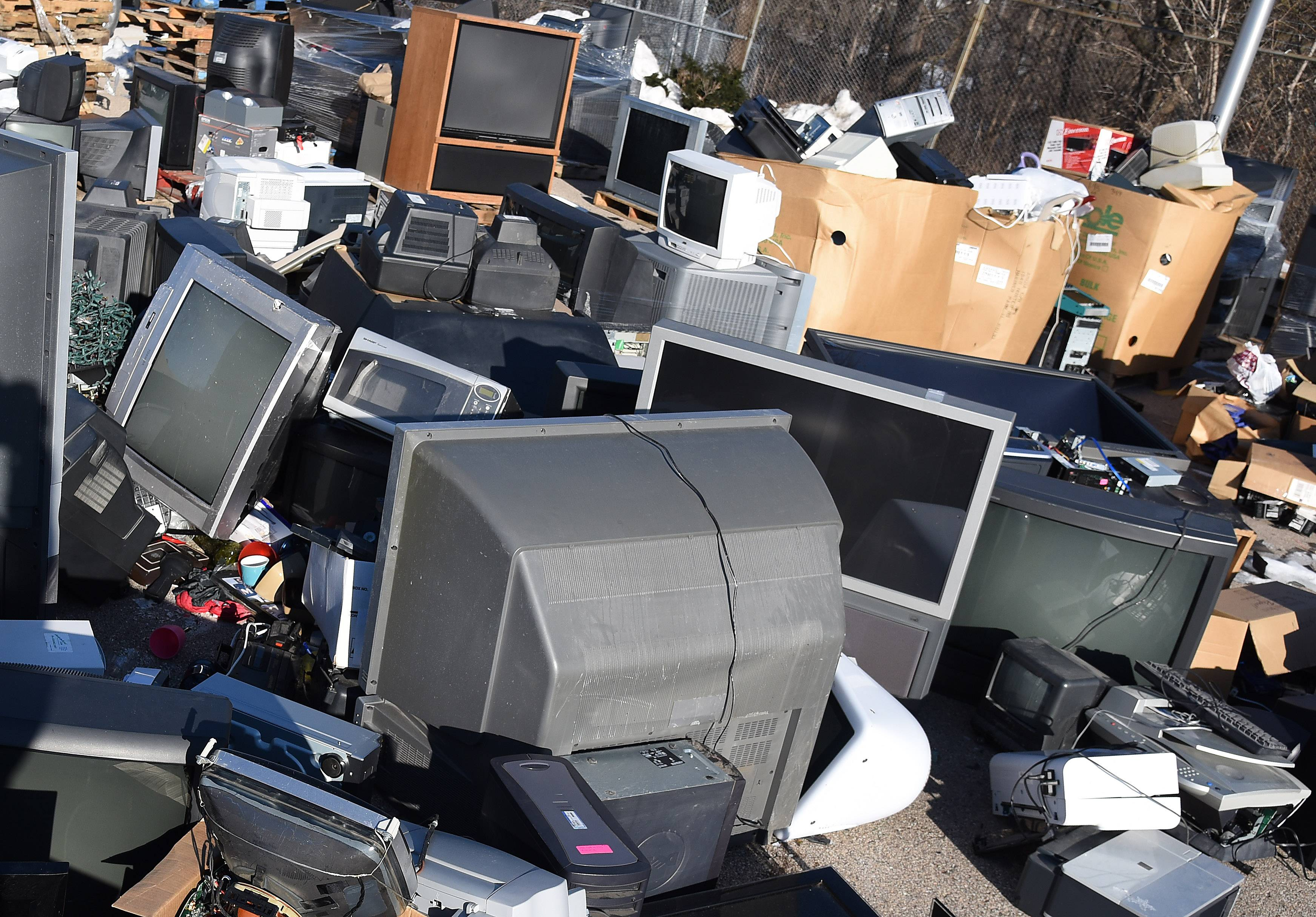 The St. Charles public works self-serve drop-off is one of two remaining permanent electronics recycling locations in Kane County, although city officials recently held a preliminary vote to close the site.
