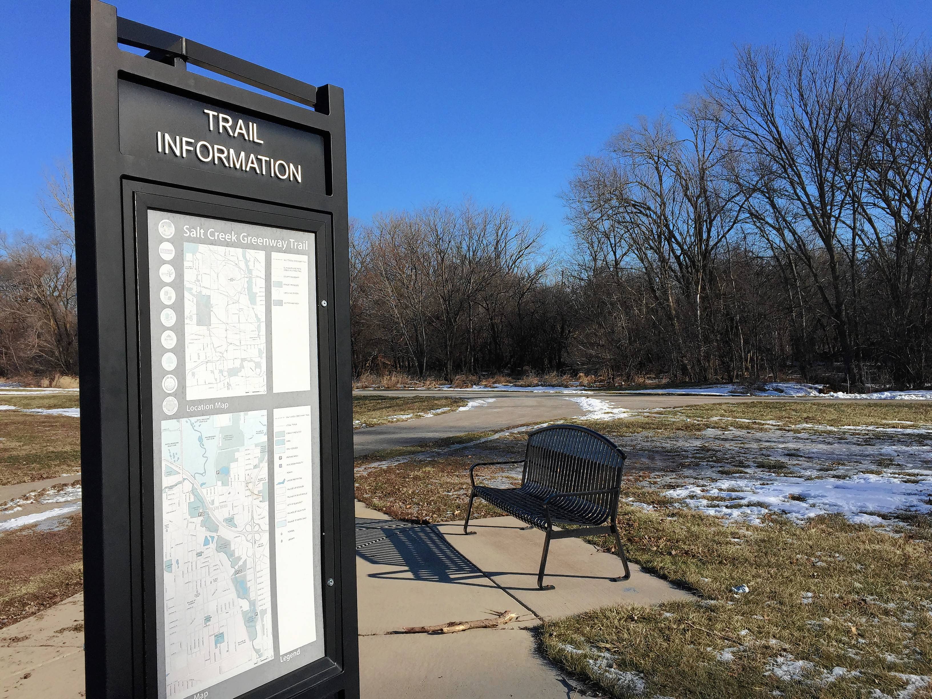 Community Park in Addison offers an entry to the Salt Creek Trail.