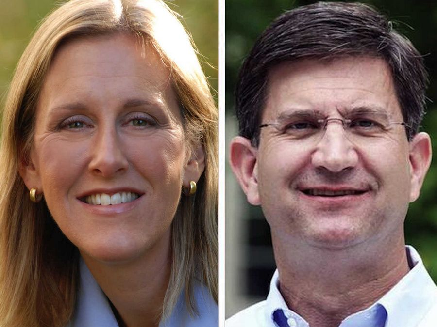 Nancy Rotering, left, and Brad Schneider, right, are vying for the Democratic nomination in the 10th Congressional District.