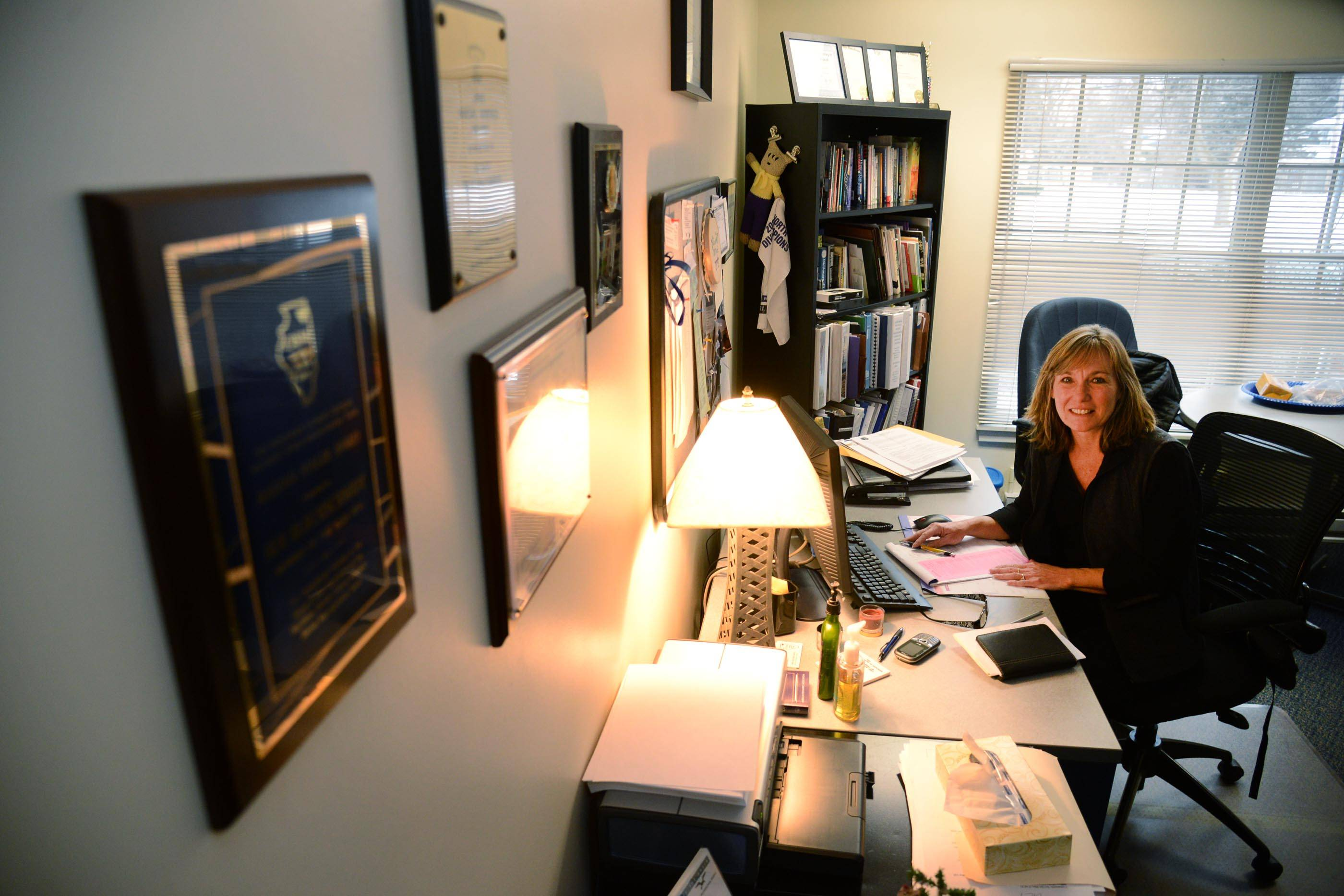Sue Blechschmidt of the Lake in the Hills Police Department is the only police social worker in McHenry County.