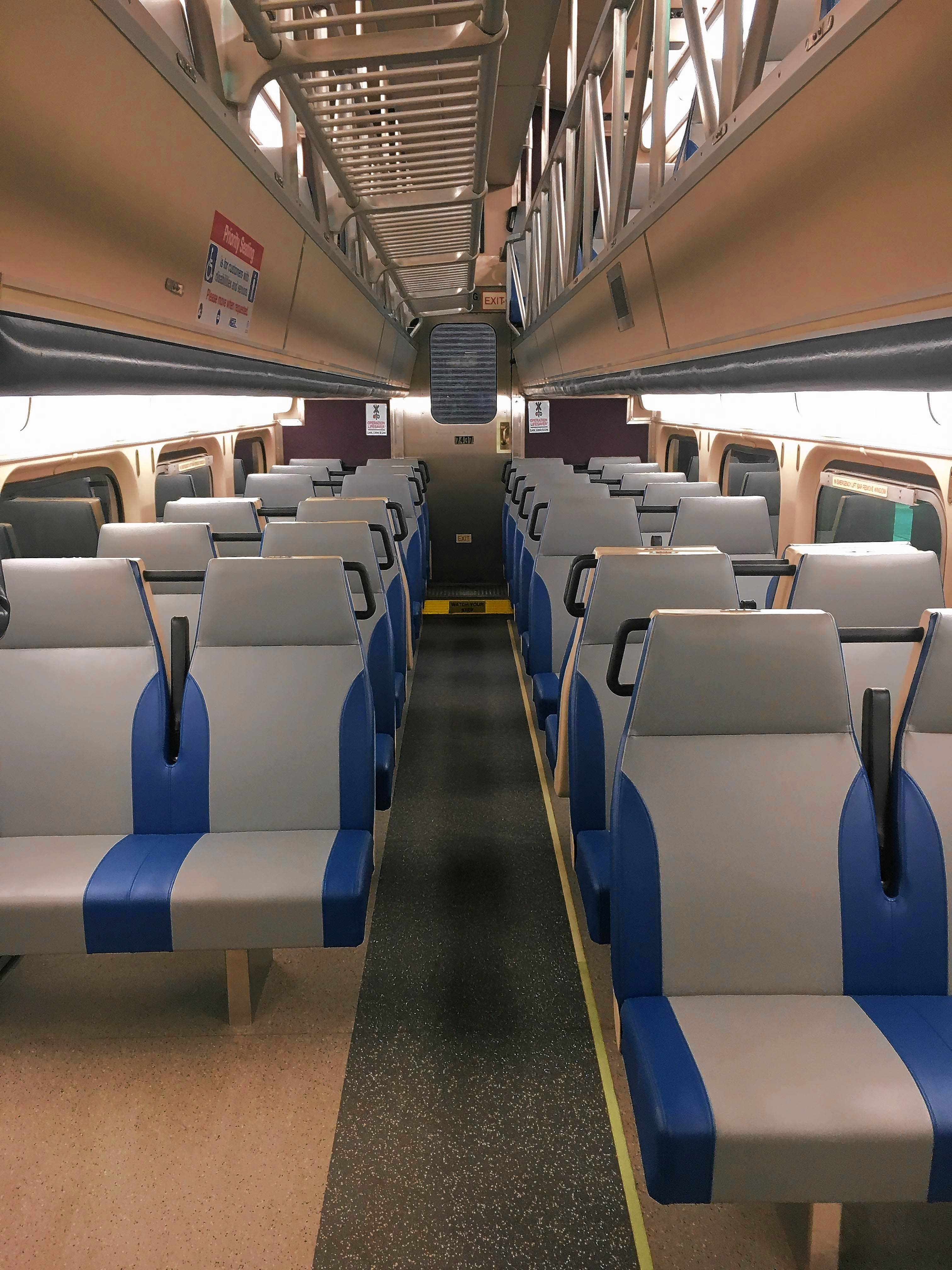 Will you be sitting pretty on this new Metra seat, complete with a cupholder? Metra is upgrading seating in dozens of its cars this year, officials say.