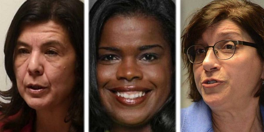 From left, Anita Alvarez, Kim Foxx, and Donna More are candidates for Cook County state's attorney.