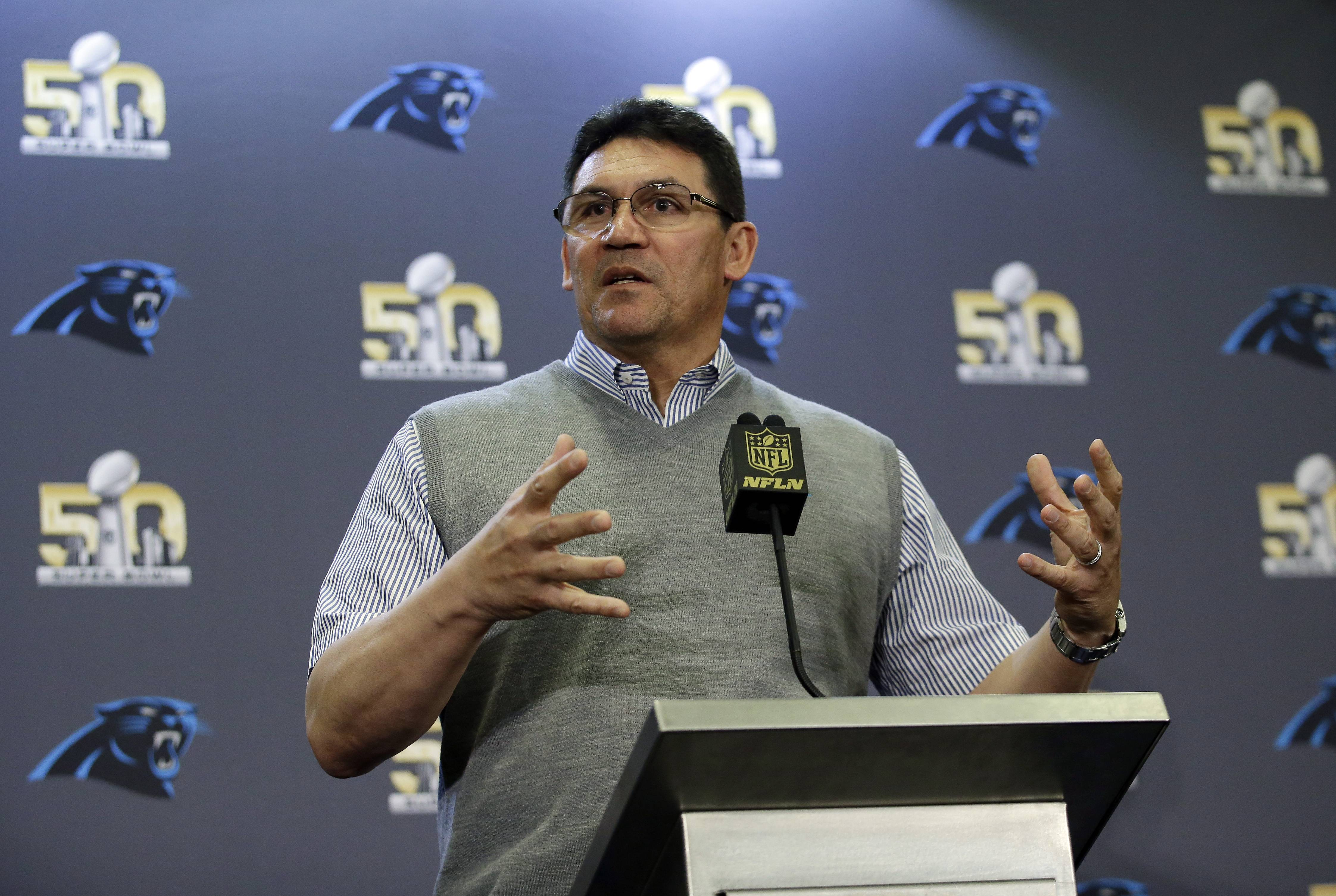 Thirty years removed from his days as a backup linebacker for the Super Bowl XX champion Chicago Bears, Carolina Panthers head coach Ron Rivera prepares his team to take on the Denver Broncos in Super Bowl 50 on Sunday.