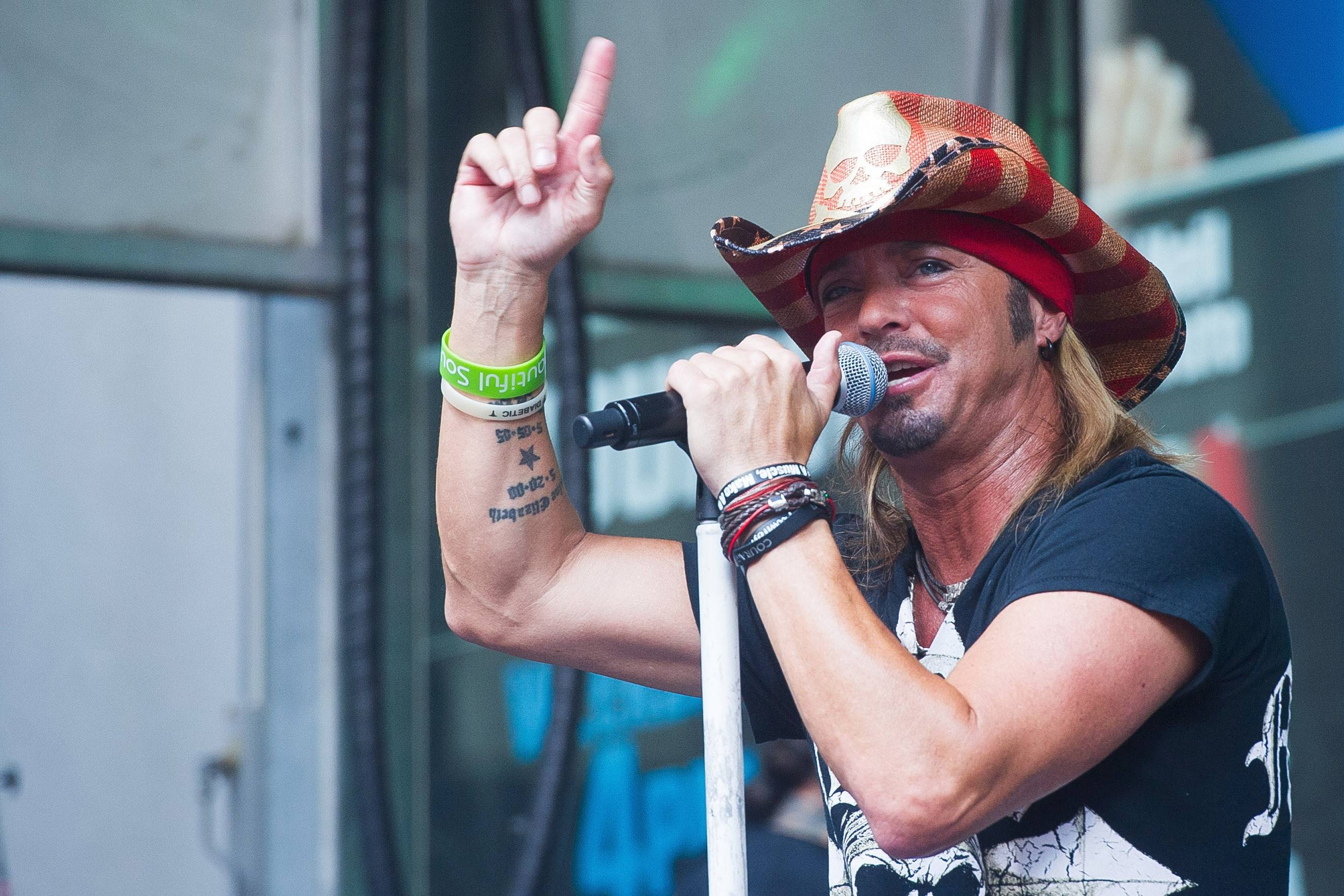 "Bret Michaels performs at ""FOX and Friends"" All American Summer Concert Series in New York last July."