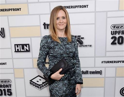 "FILE - In this May 13, 2015 file photo, Samantha Bee attends the Turner Network 2015 Upfront at Madison Square Garden in New York. The new TBS show ""Full Frontal"" starring the former ""Daily Show"" correspondent debuts Monday, Feb. 8, 2016. (Photo by Evan Agostini/Invision/AP, File)"
