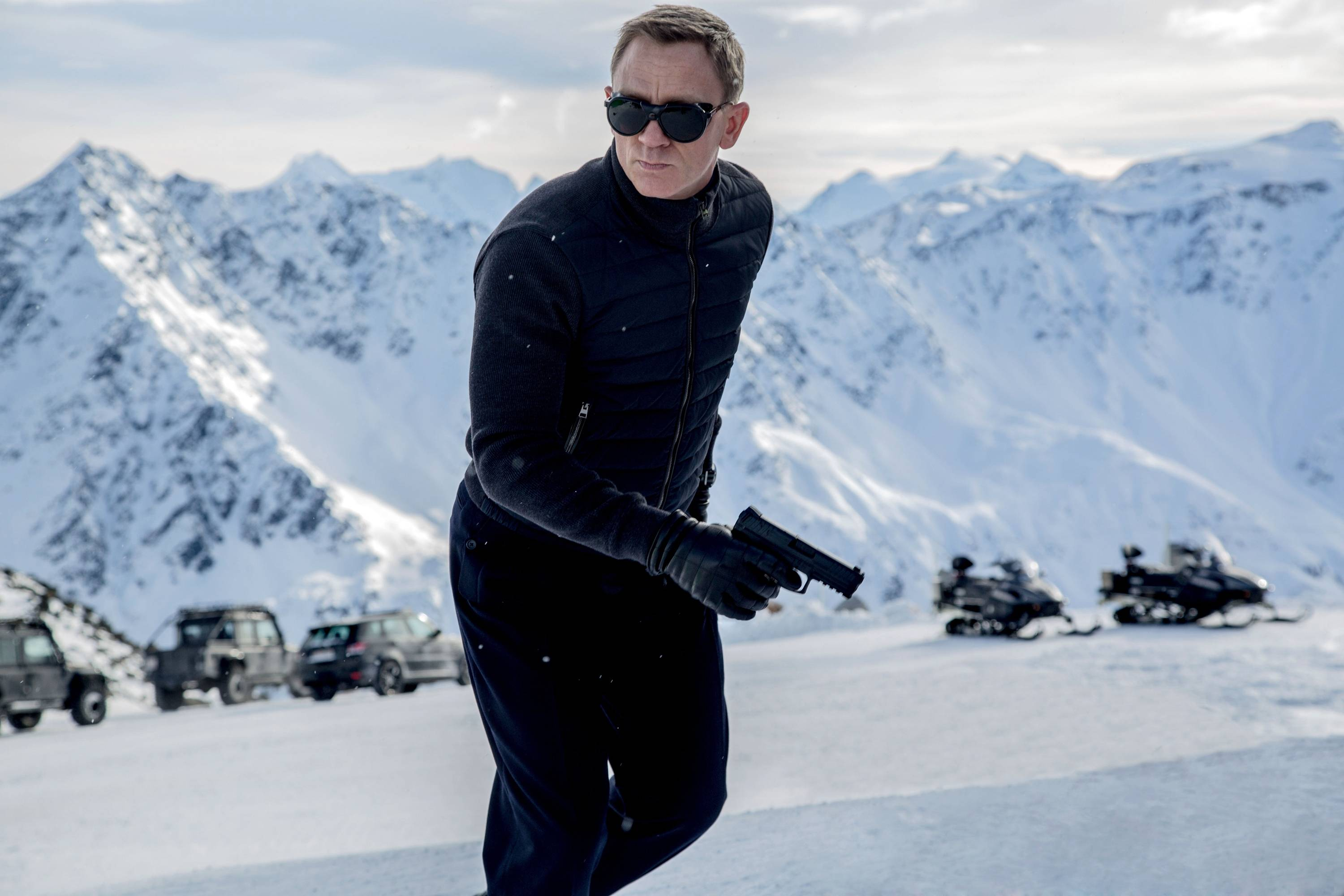 "James Bond (Daniel Craig) chases after an elusive global organization called ""SPECTRE."""
