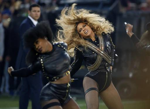"Beyonce performs during halftime of the NFL Super Bowl 50 football game in Santa Clara, Calif. Red Lobster said in a statement that its sales surged after Beyonce mentioned the chain in a ""Formation"" lyric."