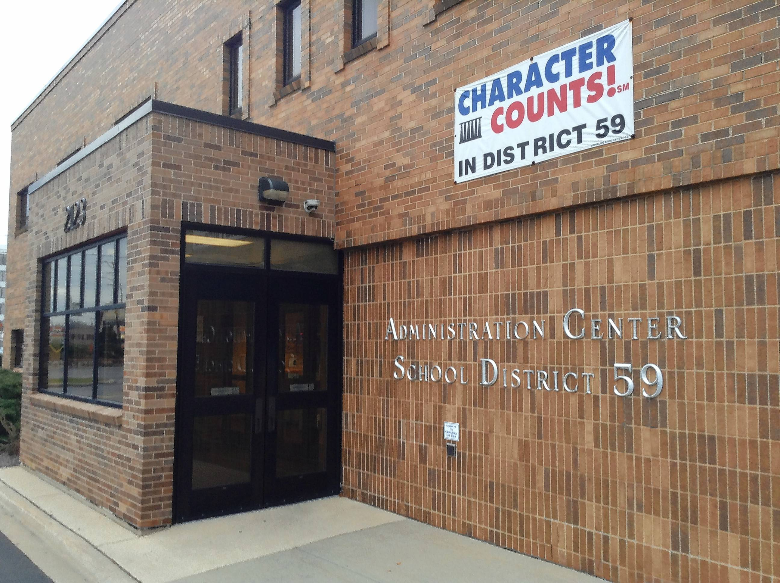 Officials from an unnamed township have interest in Elk Grove District 59's administration center at 2123 S. Arlington Heights Road in Arlington Heights.