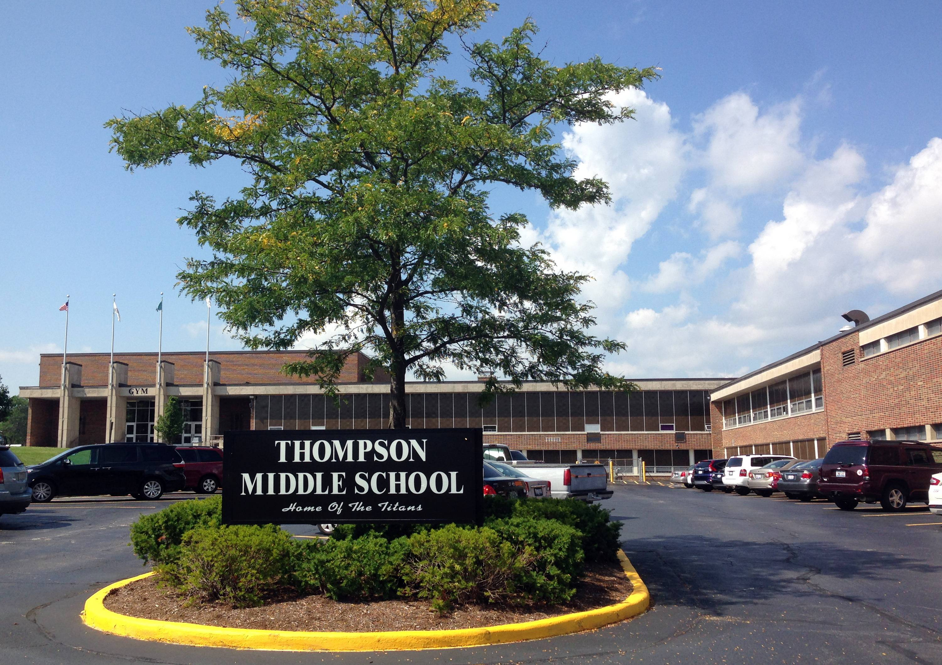 Thompson Middle School in St. Charles might be demolished in favor of a new middle school on Silver Glen Road.