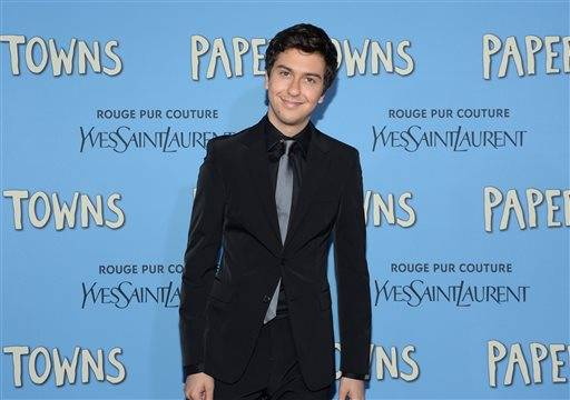 "FILE - In this July 21, 2015 file photo, actor Nat Wolff attends the premiere of ""Paper Towns"" in New York. In February 2016, Wolff, 21, is starring in Sam Shepard's ""Buried Child,"" the same Midwest Gothic comedy his mother, Polly Draper, starred in 37 years ago at Yale Repertory Theatre. (Photo by Evan Agostini/Invision/AP, File)"