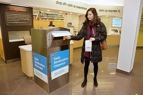 Walgreens will set up kiosks in suburban pharmacies to help people safely dispose of old medications.