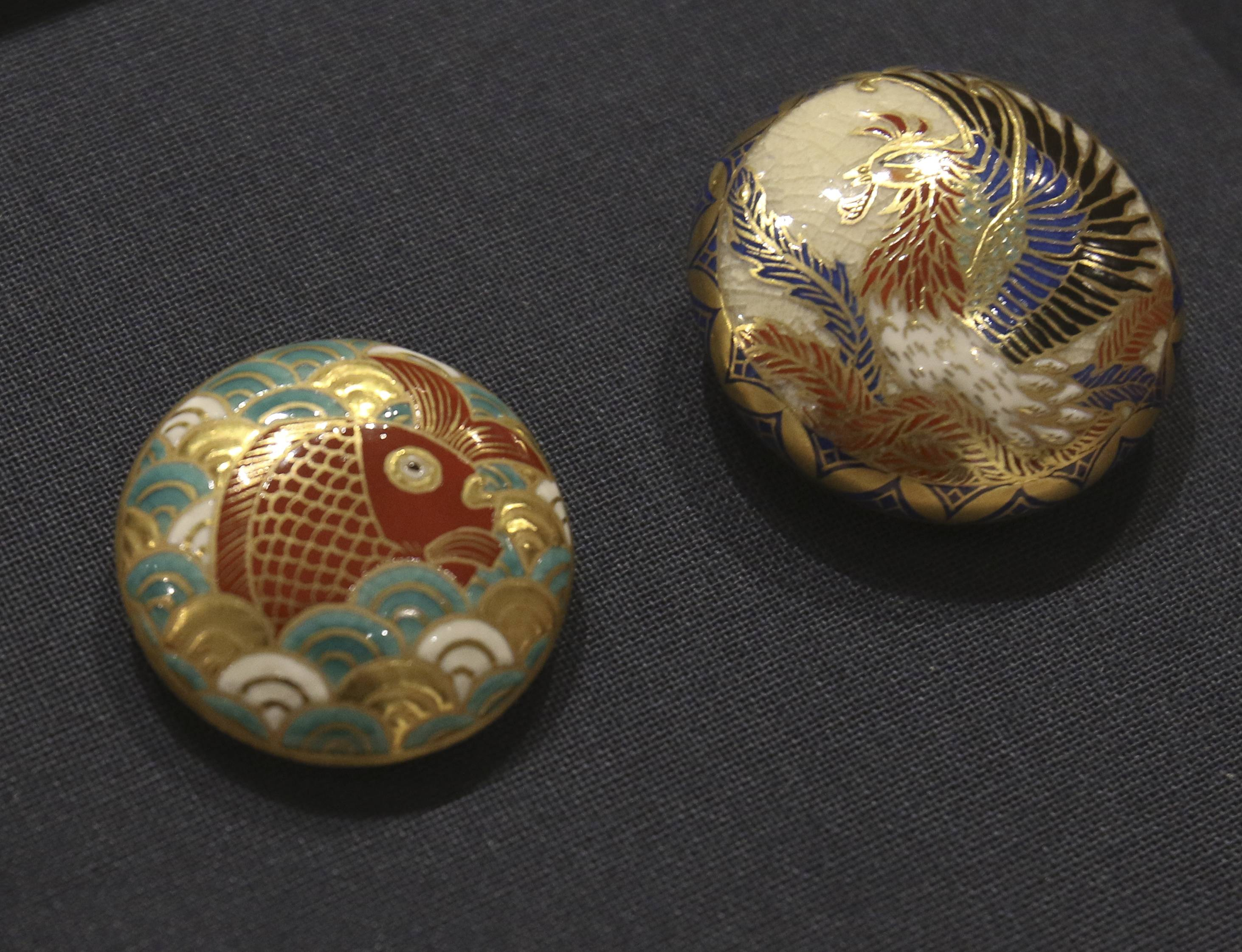 Ceramic buttons from Kagoshima are among Japanese items to be displayed at a cultural event Feb. 12 hosted by Motoko Izumi of Artezanato Studio in downtown Naperville.
