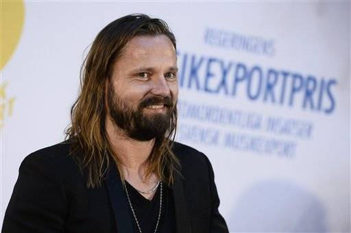 FILE - In this file photo dated March 19, 2015, Swedish music producer Max Martin who is named Wednesday Feb. 10, 2016, winner of Sweden's prestigious Polar Music Prize. Producer and song writer, Martin is named Laureates for the 2016 Polar Music Prize, together with fellow winner opera singer Cecilia Bartoli. (Claudio Bresciani / TT via AP) SWEDEN OUT