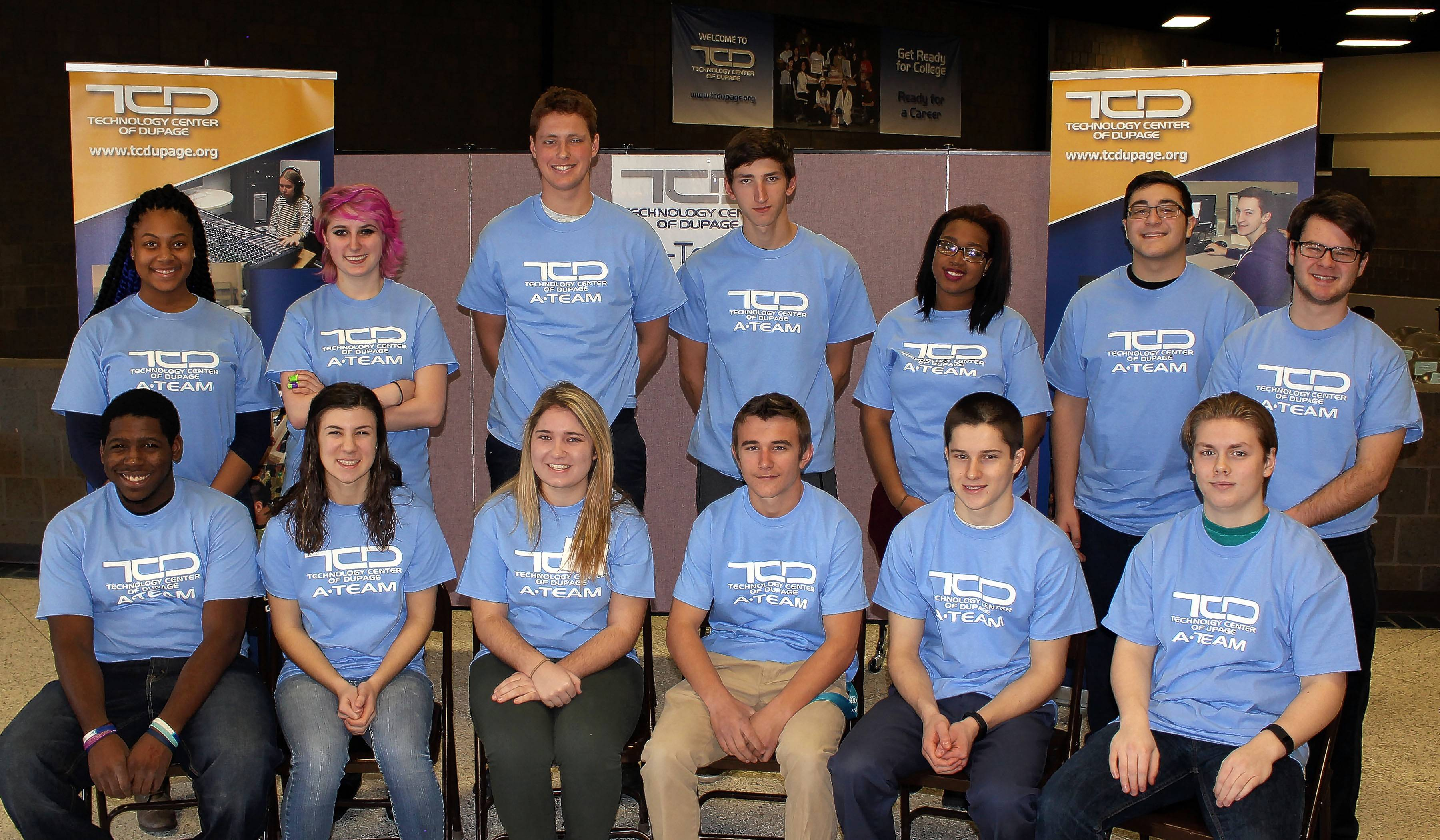 Technology Center of DuPage's 377-member A-Team honor roll includes these morning session students from Downers Grove South High School who represent excellence in nine of TCD's 20 CTE programs: medical terminology, fire science-EMT, culinary, nursing assistant, multimedia, criminal justice, automotive technology, early childhood education and computer information systems.