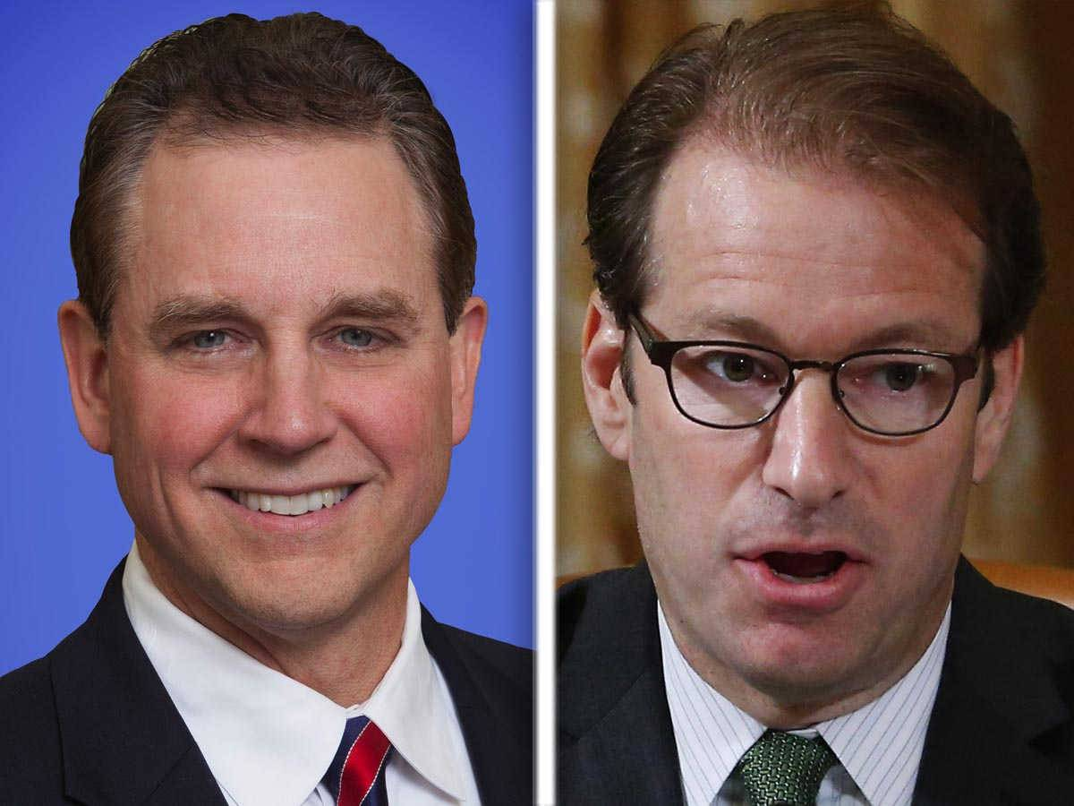 Gordon Kinzler, left, and Peter Roskam, right, are Republican candidates for the 6th Congressional District in the 2016 election.